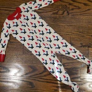 Hannah Andersson Christmas Footed Pajama Onesie